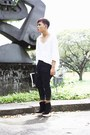 White-oxygen-shirt-black-soule-phenomenon-wedges