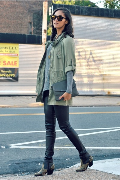 olive green military jacket Mink Pink jacket