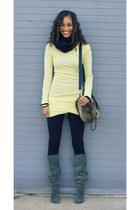 t by alexander wang top - Dolce Vita boots - Bop Basics scarf - Zara bag