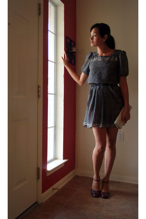 Perri Petites dress - Highlights shoes - buffalo exchange belt - savers purse -