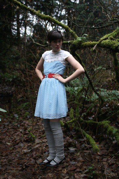 blue Rodarte for Target dress - white Old Navy shirt - gray Forever 21 accessori