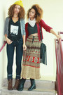 Black-boots-tan-skirt-brick-red-cardigan