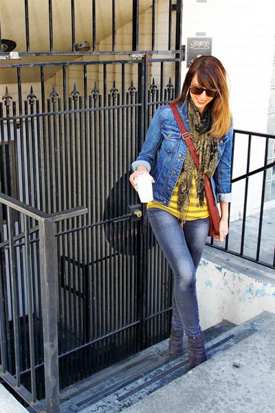 mustard Go Couture shirt - dark brown Luxury Rebel boots