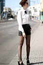 American-apparel-tights-h-m-shorts-diy-necklace-blouse-h-m-blouse