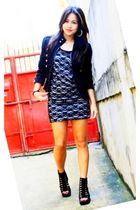 black sm department store blazer - black random brand dress - black BEST FINDS T