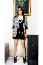 online thriftshop blazer - black dress - black