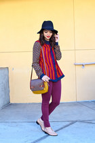 mustard Handbag Heaven bag - maroon bdg skinny Urban Outfitters jeans