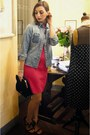 Zara-dress-dondup-blazer-miu-miu-bag