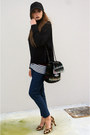 Black-h-m-hat-gray-chanel-bag-black-cos-cape-camel-zara-heels