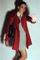 Chanel bag - Betty Blue dress - united colors of benetton jacket - Prada flats
