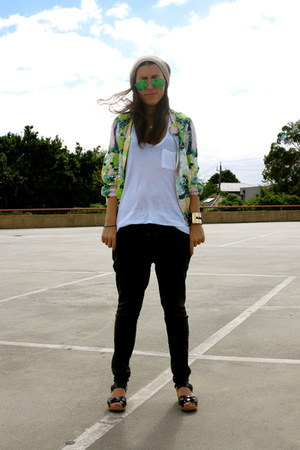 asos hat - Ray Ban sunglasses - friend of mine pants - t by alexander wang top