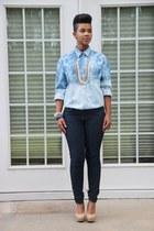 ombre Carmen Alexandra shirt - Forever 21 jeans