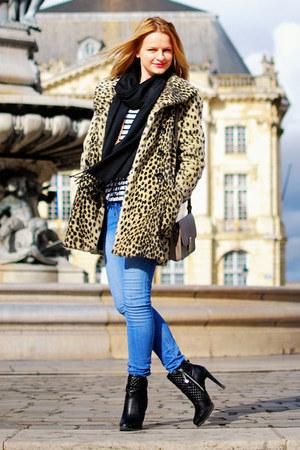 leopard Topshop coat