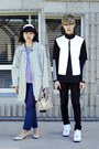 White-marni-at-h-m-jacket-navy-h-m-pants