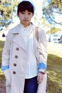 Eggshell-trench-old-navy-coat-gold-levis-jeans-navy-forever-21-jeans-musta