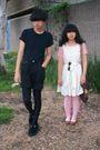 Black-shirt-black-calvin-klein-shorts-black-nike-leggings-white-forever-21