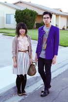 purple The Limited jacket - blue H&M jeans - pink Forever 21 shirt