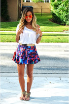 Carolina Herrera bag - Armani Exchange skirt - asos belt - Ray Ban glasses