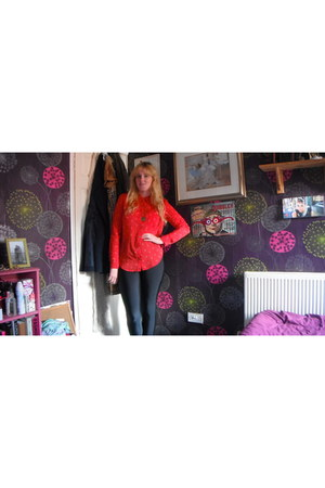 Boohoo leggings - Forever 21 blouse
