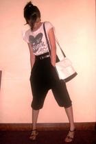 Zara t-shirt - Terranova pants - bag liz claiborne