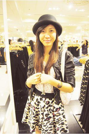 black From Bazaar jacket - white Zara blouse - beige Forever21 skirt - black For