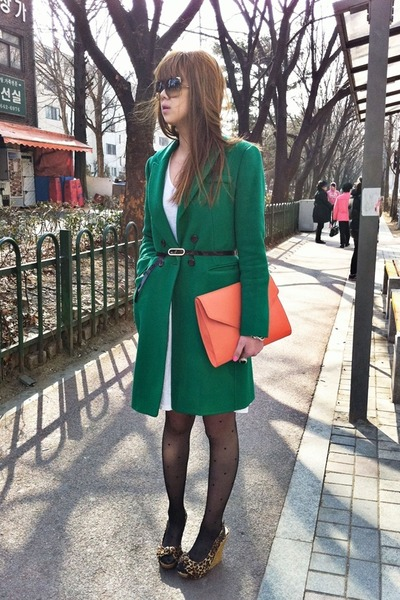 Dear Stalker dress - Ana Capri coat - M-quin bag - Michael Kors sunglasses - Cha