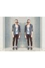 Black-h-m-hat-silver-zara-jacket-silver-shirt-black-new-yorker-sunglasses