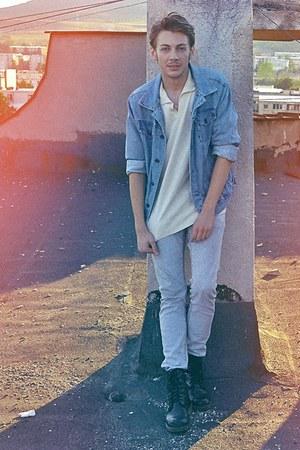 Zara jacket - NewYorker boots - Fox blouse - H&M pants