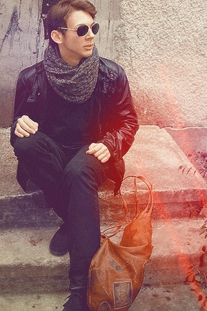 pull&bear jacket - Zara shoes - pull&bear blouse - pull&bear pants