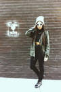 Combat-boots-topshop-boots-lined-beanie-american-apparel-hat