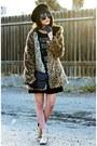 Nude-forever-21-boots-black-cotton-too-ugly-for-la-dress-black-felt-vans-hat