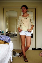 top - shorts - shoes