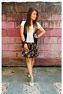 Black-skirt-black-terranova-vest-light-blue-unica-hija-t-shirt