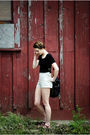 Black-h-m-dress-beige-american-apparel-shorts-brown-urbanoutfitters-shoes-