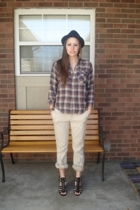 vintage pants - vintage shirt - Nine West shoes