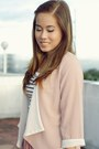 White-stripes-h-m-dress-pink-sheer-random-from-hong-kong-blazer