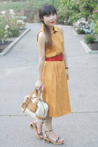 beige Chloe bag - light orange Morgan Taylor dress