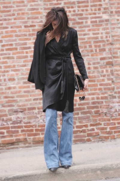black vintage dress - citizens of humanity jeans