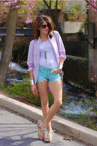 light blue Mossimo shorts - periwinkle Urban Outfitters cardigan