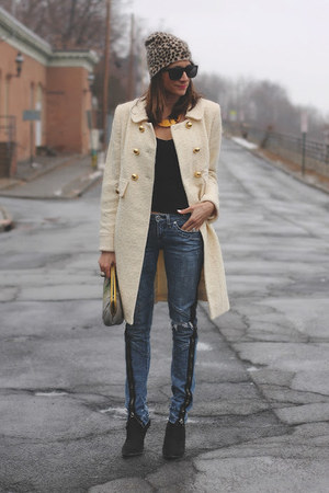 milly coat - Bebe jeans - JESS RIZUTTI bag - Vivienne Kelly necklace