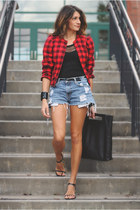 vintage jacket - acne bag - denim cut-offs Levis shorts