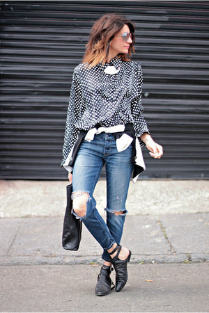 vintage shirt - jeans