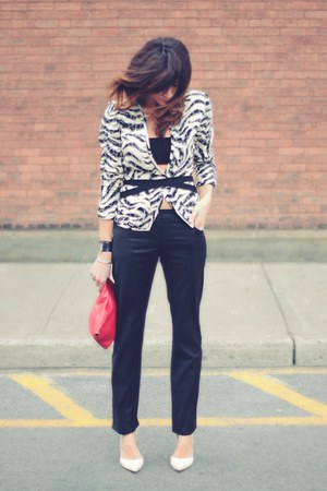 emanuel ungaro jacket - christian dior pants - white heels