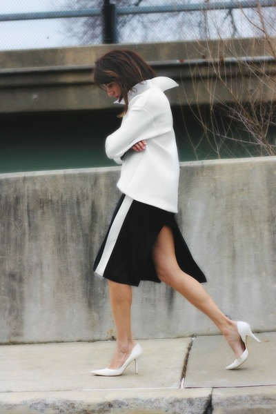 black worn as skirt vintage dress - white asos sweatshirt