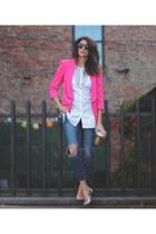 hot pink asos blazer - Emilio Pucci shoes