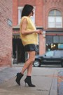 Yellow-vintage-sweater-leather-gilet-choies-vest