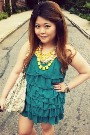 hand in hand kate spade bracelet - tiered ruffle H&M dress