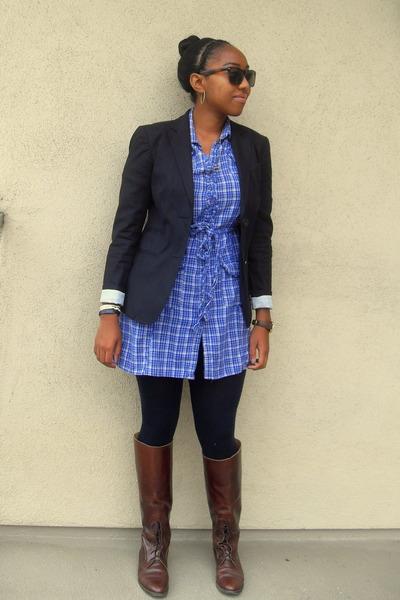 Black Gap Blazers Blue Dresses Black Leggings Brown ...