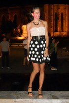 meli melo necklace - clogs - top - H&M skirt