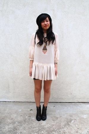 H&M dress - H&M hat - H&M boots - Paloma Picasso purse